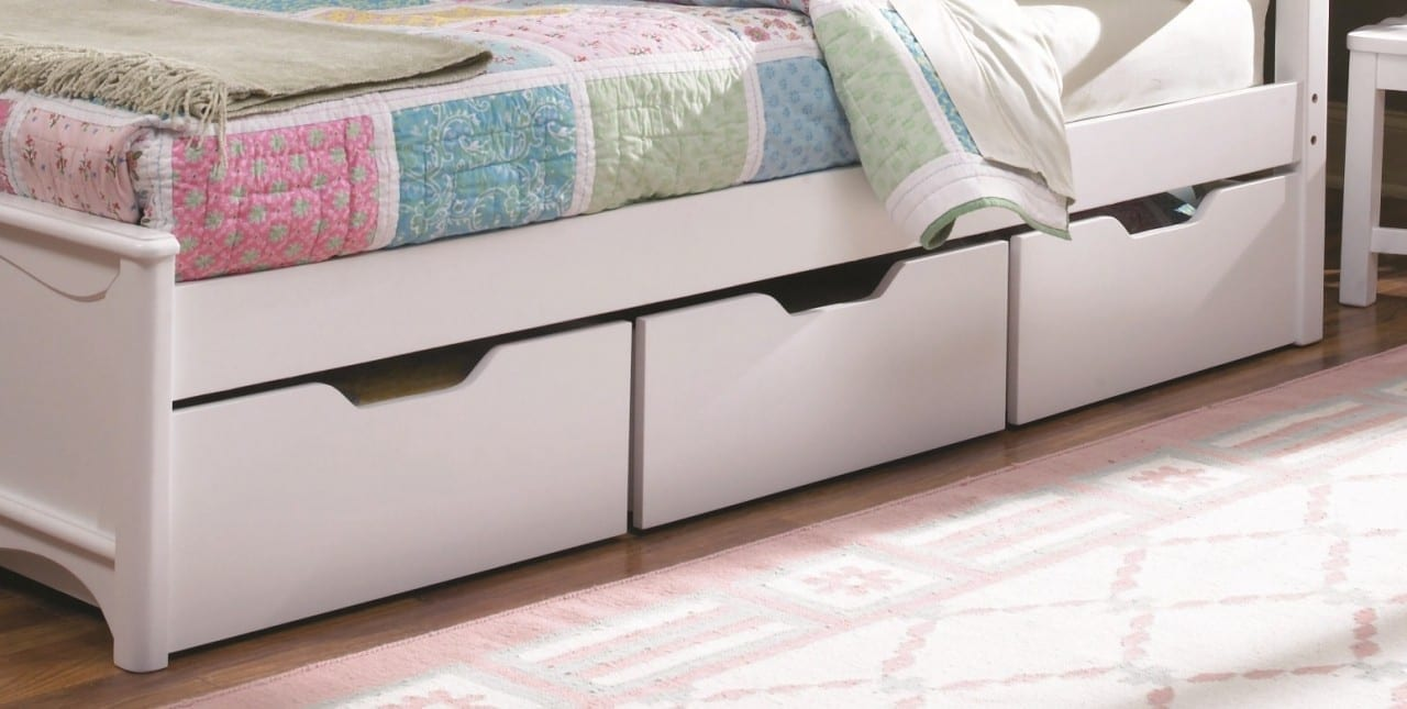 How to utilise storage space in a studio flat your store Under bed book storage